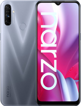 "Realme Narzo 20A layar 6.5 inches, 102.0 cm2 (~82.3% screen-to-body ratio) kamera Triple Camera 12 MP, f/1.8, 28mm (wide), 1/2.8"", 1.25µm, PDAF 2 MP, f/2.4, (depth) 2 MP, f/2.4, (depth) baterai Li-Po 5000 mAh, non-removable, Charging 10W memori 32GB 3GB RAM, 64GB 4GB RAM, eMMC 5.1 prosesor Qualcomm SDM665 Snapdragon 665 (11 nm) Adreno 610 Octa-core (4x2.0 GHz Kryo 260 Gold & 4x1.8 GHz Kryo 260 Silver) Android 10, Realme UI jaringan GSM, HSPA, LTE layar IPS LCD warna Glory Silver, Victory Blue Realme Narzo 20A rilis September 2020 harga Realme Narzo 20A sim card Dual SIM (Nano-SIM, dual stand-by)"