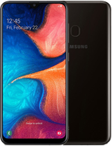 Samsung Galaxy A20 layar 6.4 inci kamera 13 MP, 5 MP baterai Non-removable Li-Po 4000 mAh, Fast charging 15W memori 32GB RAM 3GB prosesor Exynos 7884 (14 nm) Mali-G71 MP2 Octa-core (2x1.6 GHz Cortex-A73 & 6x1.35 GHz Cortex-A53) Android 9.0 jaringan GSM, HSPA, LTE layar Super AMOLED capacitive touchscreen, 16juta warna warna Hitam, Deep Blue, Merah, Coral Orange, Gold Samsung Galaxy A20 rilis April 2019 harga Samsung Galaxy A20 sim card Single SIM (Nano-SIM), Dual SIM (Nano-SIM, keduanya stand-by)